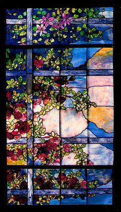 Skylight Window. Loaded Favrile glass Tiffany Studios, New York.  Photo: J. Alistair Duncan Ltd.