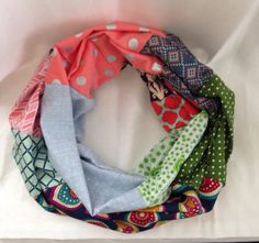 Spring Colorful Infinity Scarf by KutKloth on Etsy, $14.00