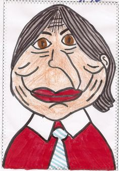 Carla 2A dibuja a Gloria Fuertes