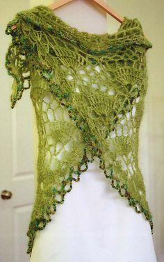 Fino patrón, calado, en crochet.