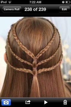 Super easy hairstyle for school! I found this on a website called  Enjoy!