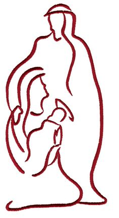 Nativity Outline embroidery design