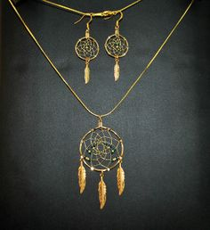 Handmade Dream Catcher Necklace and Earring by OriginalsByCathy
