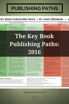 Since 2013, I have been annually updating this informational chart about the key publishing paths. It is available as a PDF download—ideal for photocopying and distributing—plus the full text is in this post.