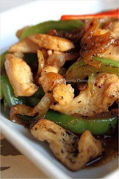 Black Pepper Chicken Recipe, only a few ingredients needed to make this wonderful dish. #chicken #blackpepper #recipe