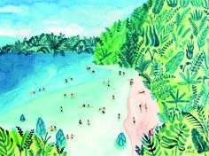 Beach by Joanne Ho on Artfully Walls