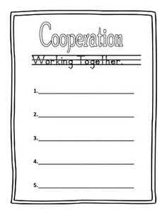 cooperation coloring pages kids - photo#35