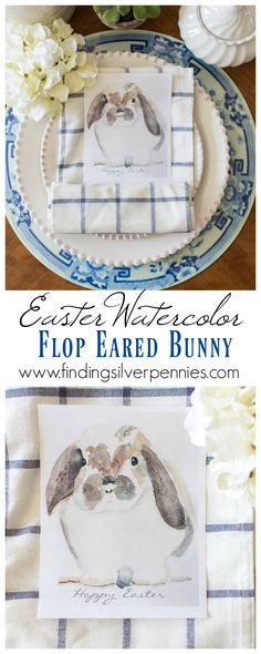 If you love Easter and spring you'll love today's post. I'm joining 29 bloggers with free printables. I hope you like my watercolor bunny!