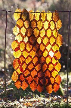 Leaf Mosaic - I Love This. It Looks Like Honeycomb