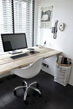 Cool 70 Simple Home Office Decor Ideas for Men https://roomaniac.com/70-simple-home-office-decor-ideas-men/