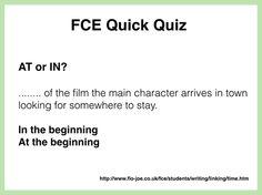 FCE: Use of English