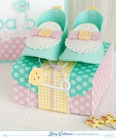 Polka Dotted Bootie Box by Betsy Veldman for Papertrey Ink (May 2014)