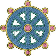 Ship Wheel Design embroidery design