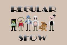 regular show cross stitch - Google Search