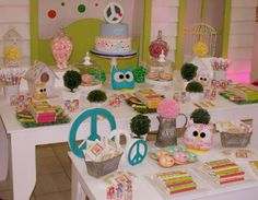 Peace, love and owls Birthday Party Ideas | Photo 4 of 18
