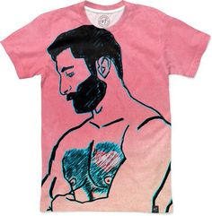 Man in Love by Sundressed Barcelona - Men's T-Shirts - $49.00