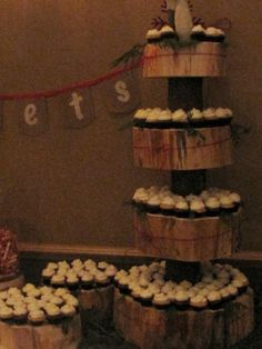Rustic mini cupcakes at Hidden Valley Resort Huntsville, Muskoka.