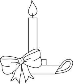 ornament coloring pages candle stick - photo#34