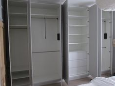 Internal view of fitted wardrobes Alcove Wardrobe, Bedroom Built In Wardrobe, Floor To Ceiling Wardrobes, Alcove Cabinets, Fitted Wardrobes, Gray Bedroom, Closet Space, Beautiful Bedrooms, Locker Storage