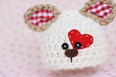 Newborn puppy hat .. baby dog hat .. valentines day hat .. newborn photo prop .. boy .. girl .. NEWBORN SIZE. $38.00, via Etsy.