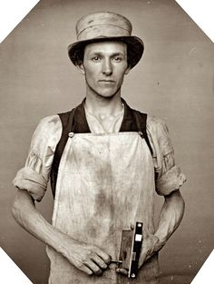 1850's - Occupational portrait of a latchmaker