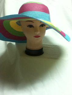 Lady Chic Wide Large Brim Summer Cool Beach Sun Hat SBeach Cap Multi Color #WideBrim