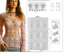 Gorgeous Tulip Desin Shirt or Sweater or Pullover!  Chart only