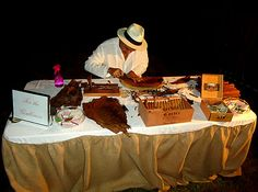 cigar roller table at reception, I have said I always wanted one of these at my wedding