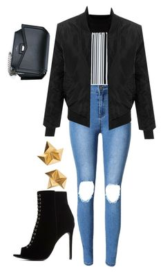 """""""#SASS (Slay At School Series) the """"biker girl"""""""" by mammiilonaaa ❤ liked on Polyvore featuring Alexander Wang, LE3NO, Charlotte Russe and Givenchy"""