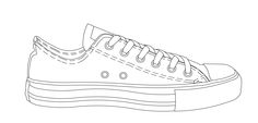 Easy drawing of converse shoe