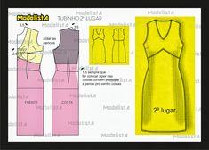 ModelistA: V neck Sheath Dress with curved empire waist