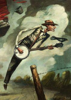 Banjo playin' in the wind