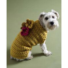 Flower Garden Dog Sweater Pattern (Crochet) - Lion Brand Yarn