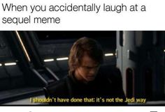 Prequel memes ONLY Star Wars Trivia, Star Wars Film, Star Wars Witze, Star Wars Jokes, Star Wars Facts, Funny Memes, Hilarious, Worst Memes, Prequel Memes