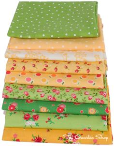 Fond Fat Quarter Bundle of Pam Kitty Love #fabric #backtoschool