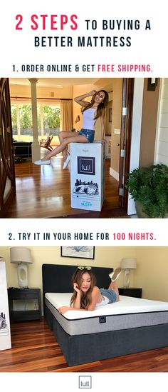 Here's how to never have a bad night's sleep again. Take your sleep to the next level with a premium memory foam mattress, delivered in a box. Here's the deal: most mattress retailers charge you 6-12x their manufacturing costs, plus you only get to try the mattress for a few minutes in the store. Lull provides better quality, while cutting out the middle man to offer you mattresses at 1/3 of the cost. Free Shipping and a 100 night trial in your home, risk-free. Sweet deal, sweet dreams.