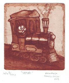 """""""Veturi"""" (The Locomotive) Anna-Maija Mattila-Selin www.anna-maija.com"""