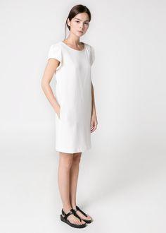 Getextureerde katoenen jurk
