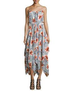 TD0JR Bishop + Young Floral-Print Waterfall Dress, Print