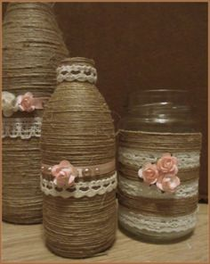 The possibilities with old jars and bottles are endless