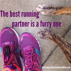 Runs with dogs. My husband is nice too, though! Love it when our little family runs together :)