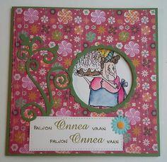 Hutton's arts and crafts hand made birthday card käsintehty syntymäpäiväkortti Art Impressions