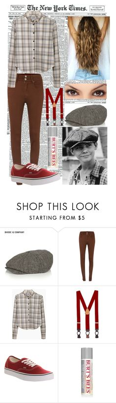 """Newsies: Spot Conlon inspired"" by british-carrot ❤ liked on Polyvore featuring Bhode & Company, Salsa, Rachel Comey, Brooks Brothers, Vans and Burt's Bees"