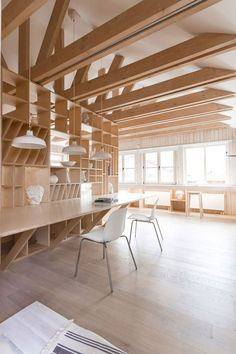 Workroom Architects - Picture gallery #architecture #interiordesign #wood #workspace #beams