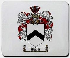 Baber Family Shield / Coat of Arms Mouse Pad $11.99