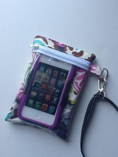 Phone Case - iPhone Case - Smart Phone Case - Case - Wristlet - Funky Pasiley Fabric. $20.00, via Etsy.