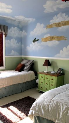 always wanted one of them to want an airplane themed room. sigh...