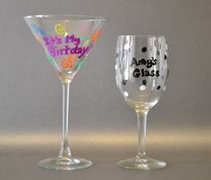 Create your own customized glasses with Painters Markers! #ExpressYourself