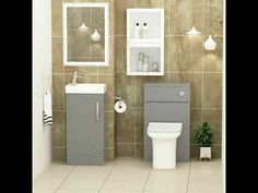 A small guide for buying space saving cloakroom vanity unit in UK Bathroom Suites Uk, Cloakroom Suites, Royal Bathroom, Toilet Suites, Bifold Shower Door, Shower Doors, Cloakroom Vanity Unit, Straight Baths, Quadrant Shower Enclosures