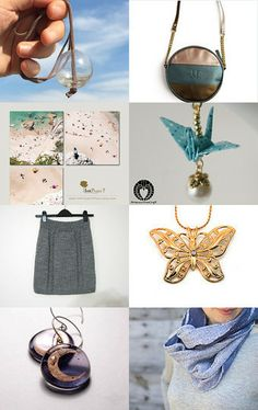 Blue grey gifts by Elsa Pakopoulou on Etsy--Pinned with TreasuryPin.com